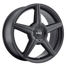 4-NEW Vision 168 Autobahn 16x7 5x108/5x115 +40mm Matte Black Wheels Rims