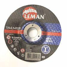 5 disques tronçonnage métal diamètre 125 x2,5x22,23 leman neuf livraison gratuit