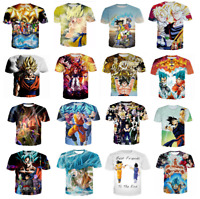 New Women/Men's Dragon Ball Z Vegeta Goku Super Saiyan 3D Print Casual T-Shirt