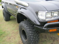 TOYOTA 80 SERIES LANDCRUISER WIDE FRONT PAIR OF WHEEL ARCH FLARES