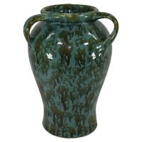 Zanesville Stoneware Pottery Neptune Handled Floor Vase Shape 847