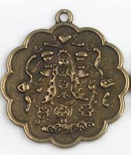 Scalloped Edge Virgencita Plis Cuidame Mucho Brasstone Religious Medal