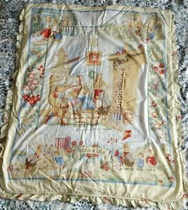 Vintage Foxwood Tales 4 Seasons Baby Cot Quilt Cover with Frill Edge Detail
