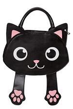 Banned Bag of Tricks Cartoon Cat Bag Magnetic Paws Top Handle & Shoulder Strap