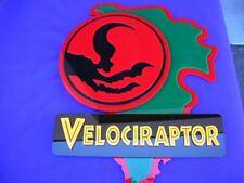Velociraptor 3D ART sign new Raptor Dinosaur fossil Jurassic Park T Rex skull