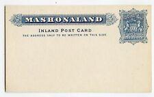 MASHONLAND BRITSIH SOUTH AFRICA COMPANY POSTAL CARD 1d, #5, CLEAN        (Y569)