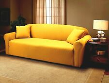 Jersey Fitted Yellow Slipcovers For Sofa Couch Loveseat Chair Or Recliner Xx