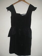 FINDERS KEEPERS BLACK PEPLUM DRESS SIZE 8