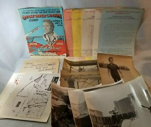 Rare 1974 Autographed Evel Knievel Motorcycle Snake River Canyon Jump PKG NO Res
