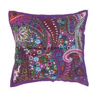 Decorative Boho Cotton 16'' Kantha Cushion Cover Throw Indian Case Vintage Decor