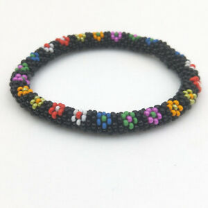 Nepal Bracelet Czech Glass Seed Bead Handmade cotton thread Crochet Bracelets 05
