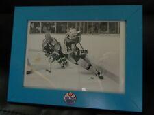 "1980s WAYNE GRETZKY photo vs Canucks 5""x 7"" framed OILERS Original photo"