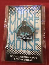 Moose Nation Wrestle Crate Exclusive Enamel Lapel Pin TNA GFW WWE Wrestling