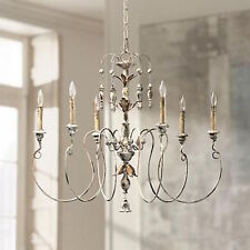 Buy white vintage chandelier in ceiling lights chandeliers ebay french farmhouse vintage white hardware candelabra chandelier 500 horchow aloadofball Images
