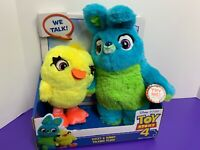 Toy Story 4 Ducky & Bunny Talking Plush NEW Disney Pixar  Magnetic Hands