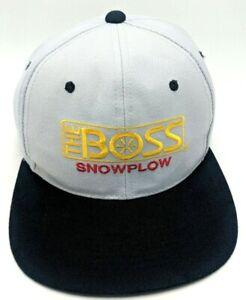 THE BOSS SNOWPLOW hat gray black adjustable snapback cap