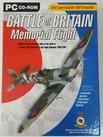 Rare Battle of Britain Memorial Justflight PC DVD ROM Flight Simulator