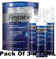 Regaine for men schiuma, 3 mesi di fornitura, 3 x 73ml, per la ricrescita dei capelli