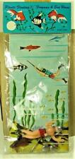 New listing 1960s New Old Stock Spearfishing Scuba Diver & Seahorse For Your Aquarium
