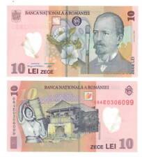 ROMANIA 10 Lei POLYMER Banknote (2008/2010) P-119f UNC Paper Money