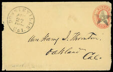 """Downieville, Cal"" 1860 cds fancy star cancel 3¢ #U10 entire Gold Rush letter"