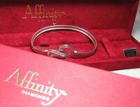 "AFFINITY DIAMONDS 925 Sterling Silver Bracelet w box 16.9 grams 8"""