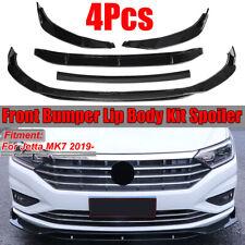 For 2019 Volkswagen VW Jetta 7 MK7 4PCS Front Bumper Lip Body Kit Spoiler Trim