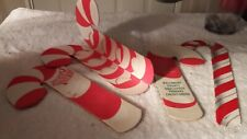 1960s-70s Vintage Christmas Ornaments Paperboard CANDY CANE Money Holders