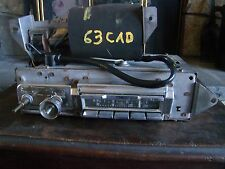 1966 CADILLAC AM FM STEREO CAR RADIO # 7293015 with AMP # 7293025 HTF RAT ROD