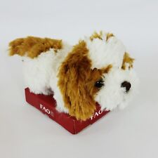 "Fao Shwarz Shih Tzu Puppy Dog Plush White & Brown 5"" Stuffed Toy Toys R Us"