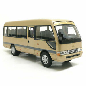 1:32 Scale Toyota Coaster Bus Model Diecast Gift Toy Vehicle Kids Sound & Light