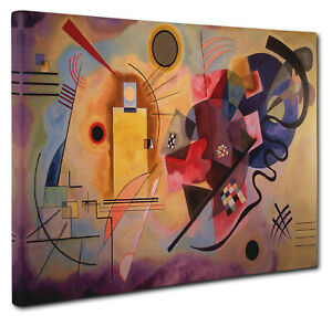 Wassily Kandinsky Yellow-Red-Blue Canvas Picture Print Wall Art Size A1 51x76cm