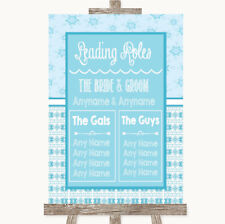 Wedding Sign Poster Print Winter Blue Who's Who Leading Roles