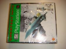 NEW SEALED PS1 Final Fantasy VII 7 Playstation 1 Greatest Hits Game Crack case