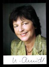 Ursula Schmidt AUTOGRAFO MAPPA ORIGINALE FIRMATO # BC 116294