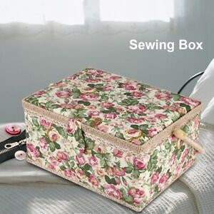Rural Basket Sewing Box Gift Set with Sewing Tool Kit Accessories Storage Case