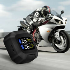 Motorcycle Tire Pressure Monitoring System TPMS Wireless LCD +2 External Sensors