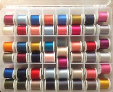 Madeira 200M Rayon Embroidery Thread. 96 spools in carry case; 4 Different Types