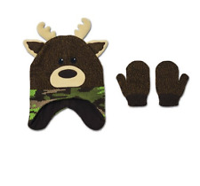 Healthtex Baby Toddler Novelty Critter Hat and Mitten Set Camo Moose