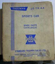 RARE Triumph 20 TR4A Sports Car Manual Spare Parts Catalog 1960's