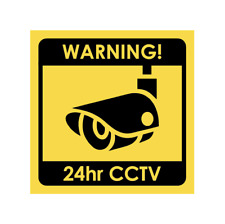 CCTV Security Camera Warning Sticker Sign 100 x 100mm