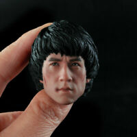 "1/6 Male Jackie Chan Injured Ver. Head Sculpt Carving Fit 12"" Action Figure Body"