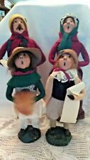 Byers Choice 1984 Christmas Carolers Family of 4 All Signed Bumpy Base