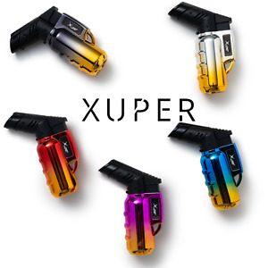 Xuper 5 Pack Galaxy Mini Jet Flame Torch Lighter Adjustable Refillable Windproof