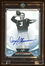2013 ULTIMATE DARYLE LAMONICA 1/1 AUTOGRAPH ON CARD AUTO NORTE DAME RAIDERS QB
