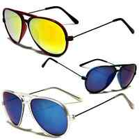 80s Mens Womens Retro Vintage Classic Fashion Designer Aviator Sunglasses Color