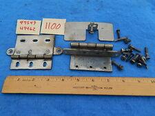 Wurlitzer 1100 Cabinet Front Door Hinges # 49549 & # 49462 with Guard & hardware