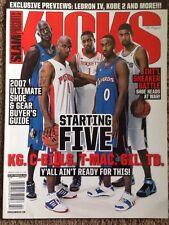 2006 Kicks Slam Magazine Shoe Issue Lebron Kobe Garnett No Label Rare Mint Gem