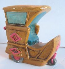 Vintage Atlantic City NJ Boardwalk Rolling Cart Chair Coin Bank Made in Japan 2