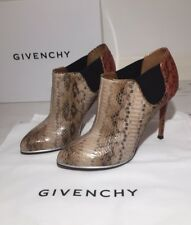 Givenchy Python Skin Leather Ankle Boots Shoes Sz IT 35.5 UK 2.5 NEW W/B RRP£850